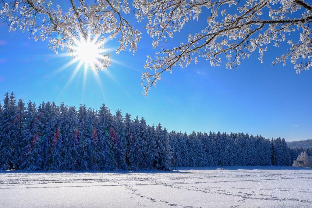 winter, snow, landscape